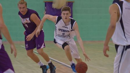 Ipswich point guard Sam Newman on the move at Loughborough