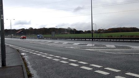 The A12 at Capel St Mary