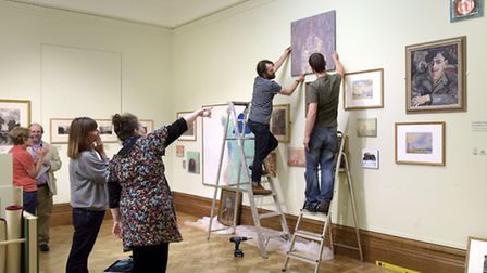 Setting up the Obscure Secure exhibition at Christchurch Mansion's Wolsey Gallery