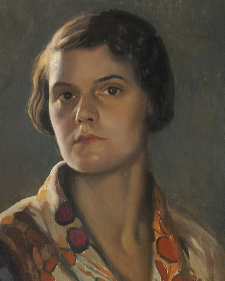 Self-portrait by Effie Spring-Smith which is featured in the Obscure Secure exhibition at Christchur