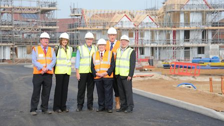 Councillors are given a tour of the new Bader Close development in Ipswich