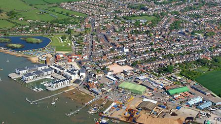 Aerial shot of Brightlingsea Harbour. Picture: Mike Page.