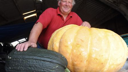 Neil Macro won the heaviest pumpkin at last weekend's Orford, Sudbourne and Gedgrave Flower Show and