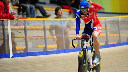 Terry Byrne, from Colchester, is competing in the Invictus Games. In action in the velodrome.