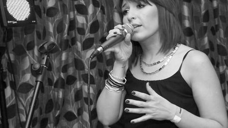 Kerrie Masters at the London launch of her EP, One