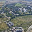 Aerial image of Essex University's Wivenhoe campus released as part of it's 50th birthday celebratio