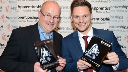 Suffolk's winners in the Central Eastern round of the National Apprenticeship Awards, Andrew Athey,