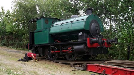 Bagnall-built engine Jubilee arriving at the MSLR for its 2014 gala