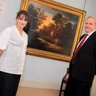 Gainsborough's House preview of the coming season. Left to right, director Mark Bills and Sue Starli