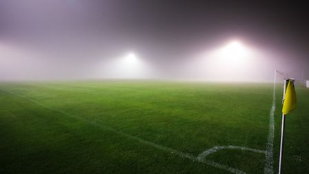 Limited visability at the Goldstar Ground which led to the postponement of the match between Felixst