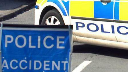A road in Long Melford was closed
