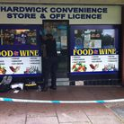 Hardwick Convenience Store & Off Licence which was the scene of the armed robbery