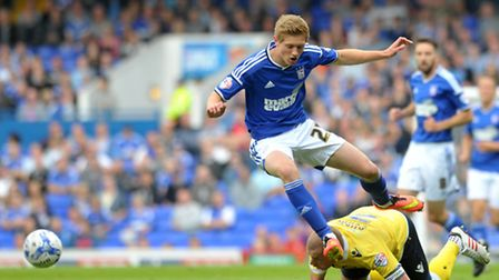 Teddy Bishop in action for Ipswich Town. PHOTO: SARAH LUCY BROWN