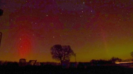 The Northern Lights captured by Richard Ayres of Mollett's Farm in Benhall near Saxmundham.