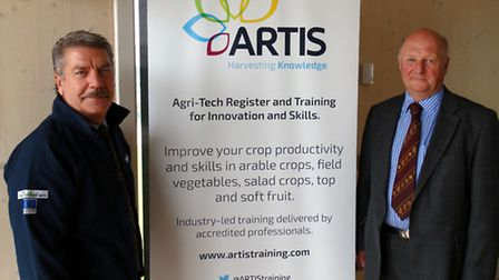 Bill Clark, Technical Commercial Director at NIAB, and Sir Jim Paice MP, ARTIS Steering Board Chair
