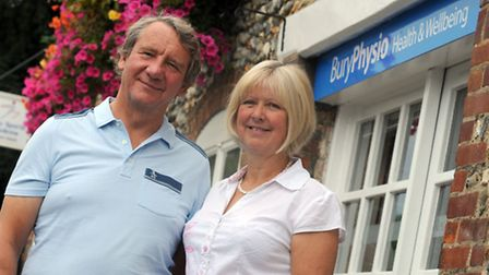 Nicola and Andrew Hunter are pictured at Bury Physio.