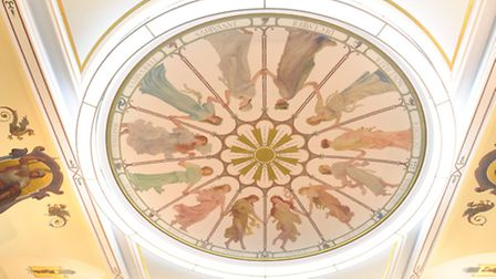 The Chamber room ceiling in Town Hall.
