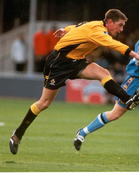 John Taylor playing for Cambridge United