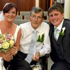 Angie and Tom Bax, with Angie'�s father Thomas Cuddihy. Credit: Andy Abbott/Abbott Photography.