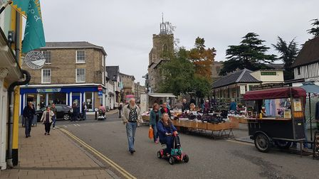 The Heritage Triangle in Diss. Picture: Marc Betts