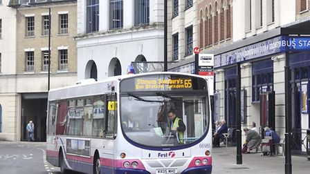 A bus in Colchester
