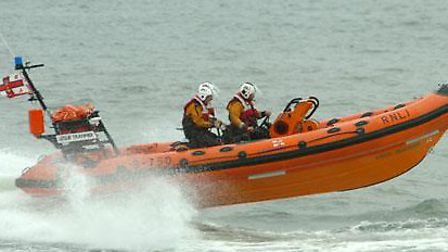 An RNLI inshore lifeboat