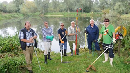 Framlingham and District Angling Club celebrate its 50th anniversary. Members of the club clear Camp
