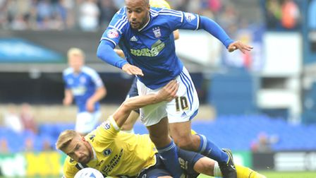David McGoldrick in action against Millwall. PHOTO: SARAH LUCY BROWN