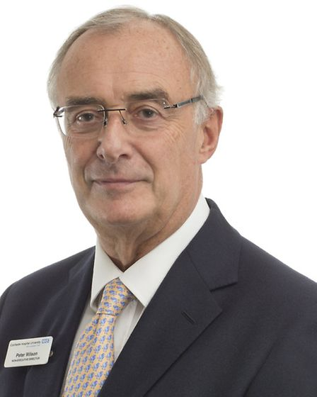 Peter Wilson, vice chairman of the Colchester Hospital University Foundation NHS Trust board.