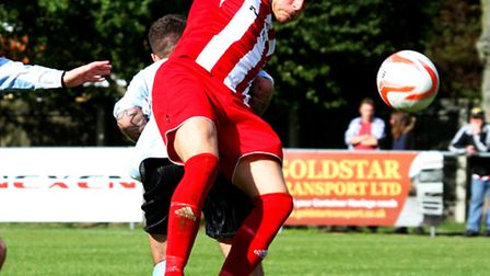 Danger-man: Felixstowe & Walton's Ben Cranfield will be looking to add to his goal tally in the FA C