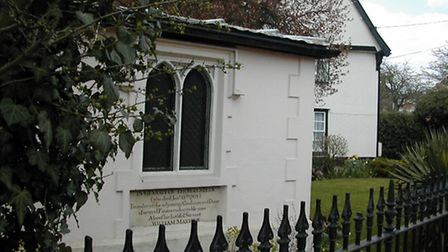 A view of Thomas Mills' tomb, which lies in the garden of his house, now known as Tomb House, in Sta
