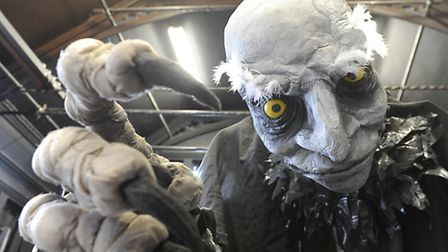 One of the puppets which features in Eastern Angles' production of Ragnarok. Photo: Lucy Taylor