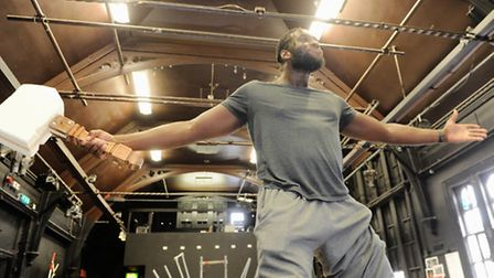Eastern Angles rehearse for their production of Ragnarok. Theo Ogundipe