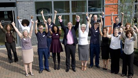 The Omega Ingredients team celebrate the launch of larger premises
