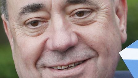 First Minister of Scotland Alex Salmond is pictured in Newmachar, Scotland, as Scotland goes to the