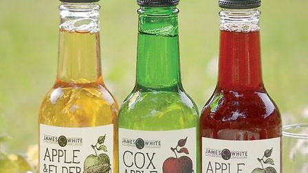 James White Drinks based in Ashbocking launched new labelling for its Classics Apple Juice range