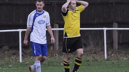 Debenham's Jack Seccombe (yellow) played in his last game for the Hornets on Tuesday before departin