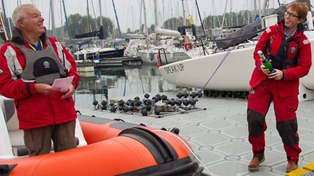 Allistair Renton, senior instructor and trustee of the East Anglian Sailing Trust (EAST), launching