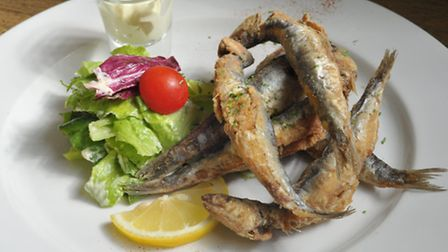 The Galley in Woodbridge is celebrating it's 20th anniversary. Portuguese Anchovies.