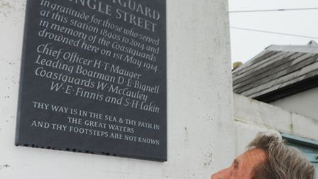 Unveiling of the plaque in recognition of five men who drowned in a maritime accident in the River O