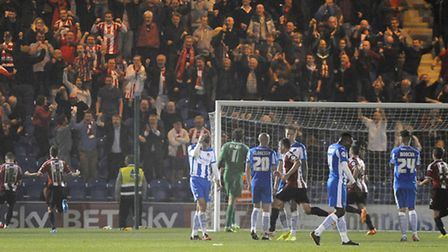 Joy and Pain as Sheffield United fans celebrate as their team go 3-2 up from a late penalty to turn