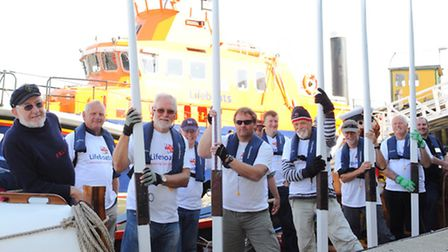 A team from the RNLI Woodbridge and District branch rowed three of local rivers, the Stour, Orwell a
