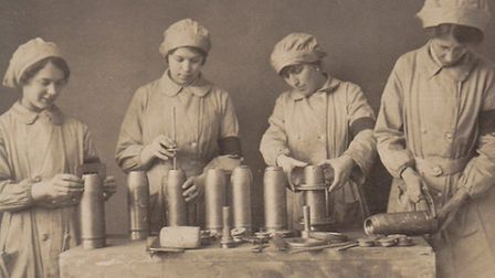 Women munition workers at the Garretts Works in Leiston