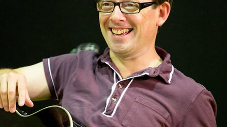 Adam Keast in rehearsal for Midsummer Songs at the New Wolsey Theatre