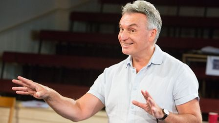 Writer-director Pete Rowe in rehearsal for Midsummer Songs at the New Wolsey Theatre