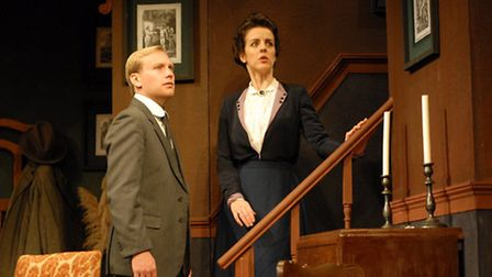 Kate Middleton and Peter Hoggart in The Late Edwina Black by William Dinner & William Morum, staged