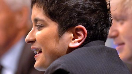 Shami Chakrabarti speaking during filming of Question Time in Ipswich in 2006. Picture John Kerr.