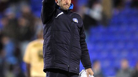 Colchester United legend Karl Duguid giving U's fans the thumbs up