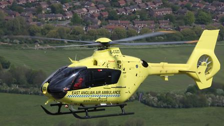 East Anglian Air Ambulance helicopter