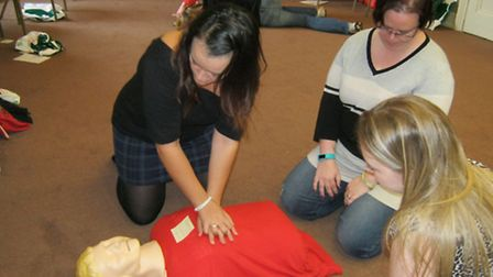 More than 50 employees of town centre businesses have become qualified first-aiders thanks to a free